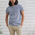 Monterosso // Indigo Blue + White Stripes (X-Large (Broad))