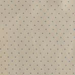 Salem Pocket Square // Cream + Light Blue Dot