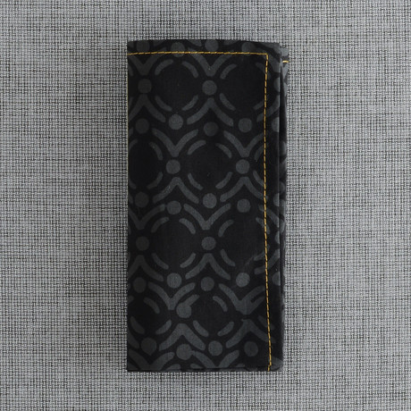 Rue Pocket Square // Black + Grey
