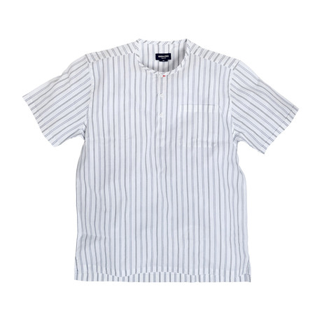 Venice // White + Indigo Blue Stripes (Large (Athletic))