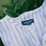 Venice // White + Indigo Blue Stripes (X-Large (Broad))