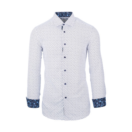 Floyd Casual Long-Sleeve Button-Down Shirt // White (S)
