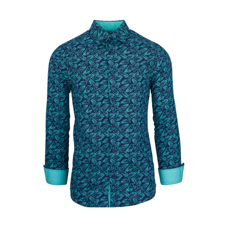 Scottie Casual Long-Sleeve Button-Down Shirt // Mint (S)