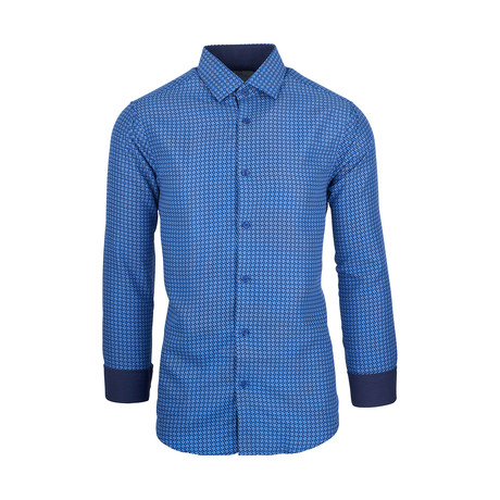 Christopher Casual Long-Sleeve Button-Down Shirt // Blue (S)