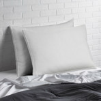 Overstuffed Luxury Plush Med/Firm Gusseted Gel Filled Side/Back Sleeper Pillow // Set of 2 (Standard)