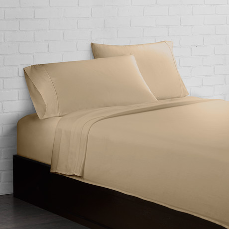 Crisp + Cool 300 Thread Count // Sand // 4-Piece Sheet Set (Twin)
