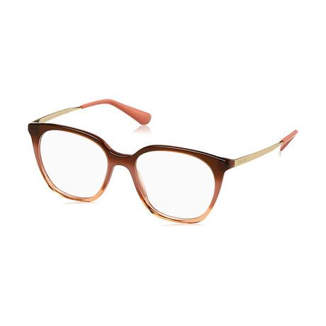 Prada // Women's Optical Frames // Gradient Bordeaux