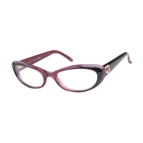 Gucci // Women's GG3515-WOL 51 Optical Frames // Red
