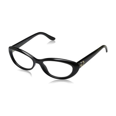 Gucci // Women's GG3566-W6Z 52 Optical Frames // Black + Gold Diamond
