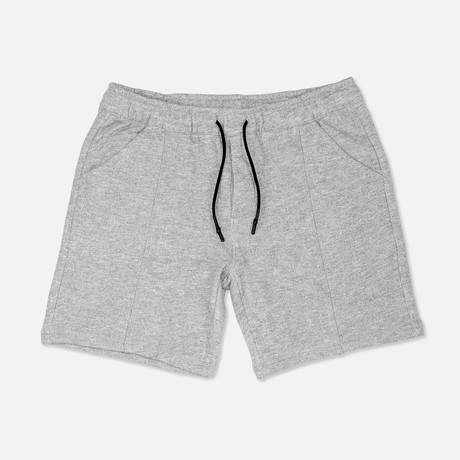 Melange French Terry Shorts // Light Gray (S)