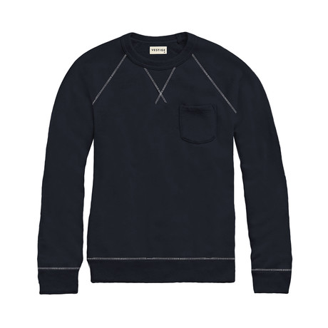 Banded French Terry Pullover // Navy (S)