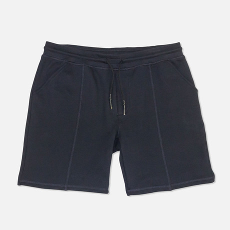 Banded French Terry Shorts // Navy (S)