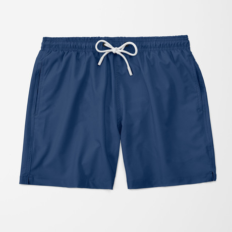 Solid Swim Trunk // Blue (S)