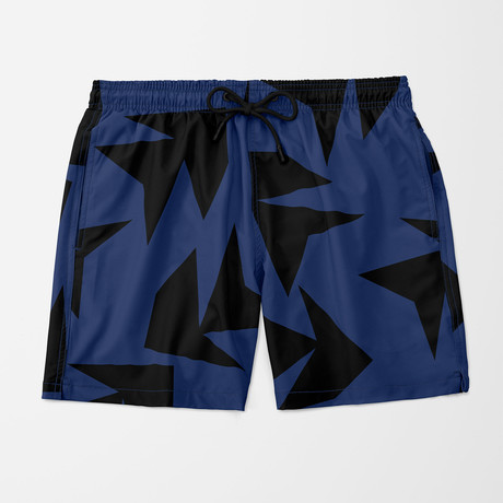 Triangle Jungle Swim Trunk // Navy (S)