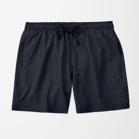 Solid Swim Trunk // Navy (S)