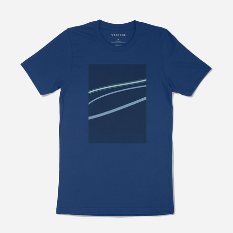 Highlights Tee // Blue (S)