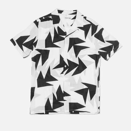 Triangle Jungle Camp Collar Shirt // White (S)