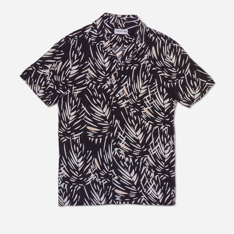 Jungle Camp Collar Shirt // Black (S)