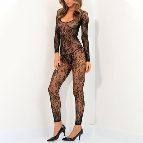 Body UP Crotchless Bodystocking (S/M)