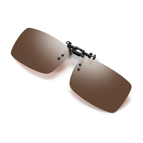 Clip on Sunglasses // CHASEJ3039 // Brown