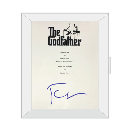 Framed Autographed Script // The Godfather // Francis Ford Coppola