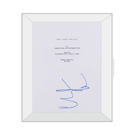 Framed Autographed Script // The Dark Knight