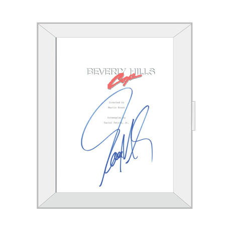 Framed Autographed Script // Beverly Hills Cop