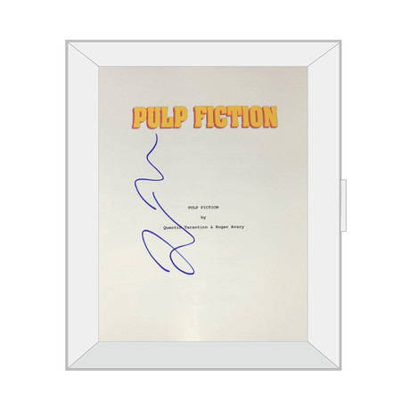 Framed Autographed Script // Pulp Fiction