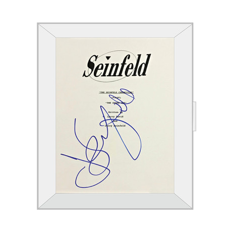 Framed Autographed Script // Seinfeld