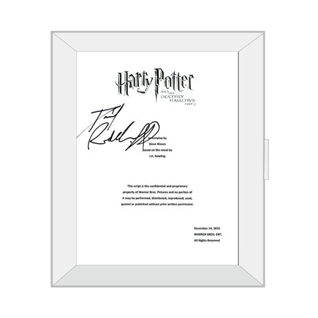 Framed Autographed Script // Harry Potter and the Sorcerer's Stone