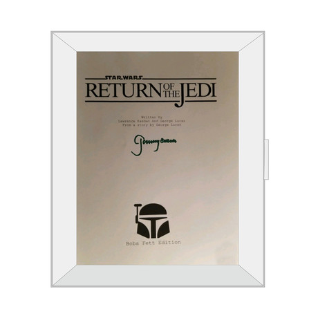 Framed Autographed Script // Star Wars Episodes VI: The Return of The Jedi
