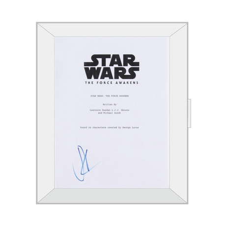 Framed Autographed Script // Star Wars Episodes VII: The Force Awakens