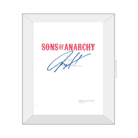 Framed Autographed Script // Sons of Anarchy