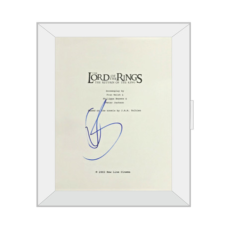 Framed Autographed Script // Lord of the Rings: The Return of The King