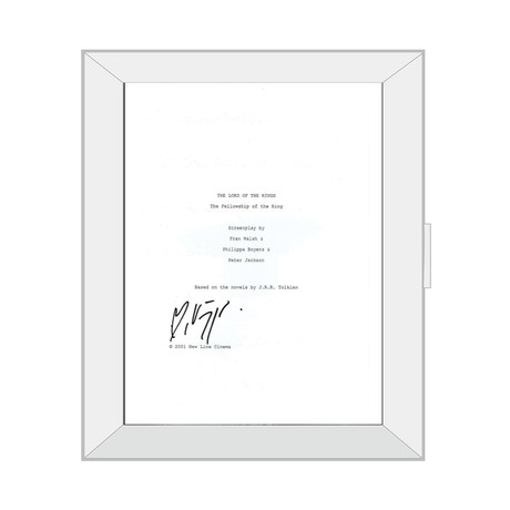 Framed Autographed Script // Lord of the Rings: The Fellowship of The Ring