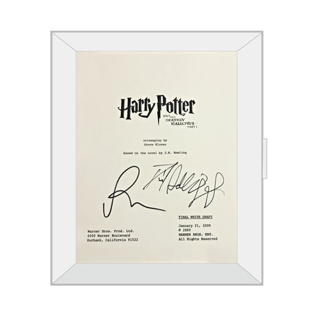 Framed Autographed Script // Harry Potter and The Deathly Hallows Part I