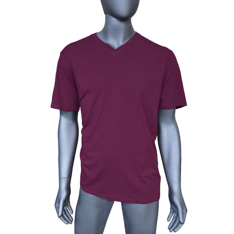 4-Way Stretch Short-Sleeve V-Neck // Potent Purple (S)
