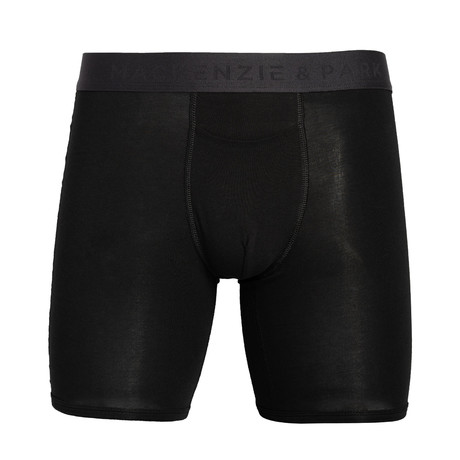 48H-Go Horizontal Fly Boxer Briefs // Jet Black (S)