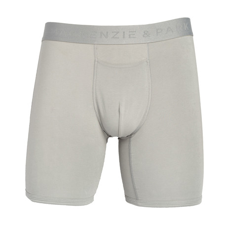 48H-Go Horizontal Fly Boxer Briefs // Sleet (S)