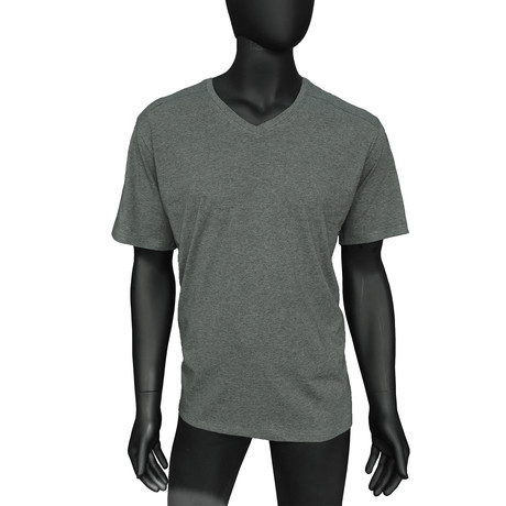 4-Way Stretch Short-Sleeve V-Neck // Charcoal Heather (S)