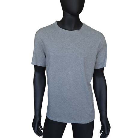 4-Way Stretch Short-Sleeve Crew Neck // Medium Grey Heather (S)
