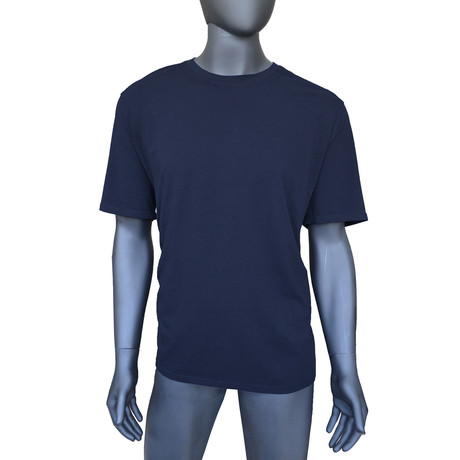4-Way Stretch Short-Sleeve Crew Neck // Blue Haven (S)
