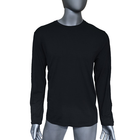 4-Way Stretch Long-Sleeve Crew Neck // Jet Black (S)