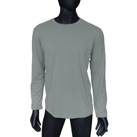 4-Way Stretch Long-Sleeve Crew Neck // Sleet (S)