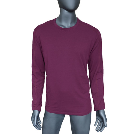 4-Way Stretch Long-Sleeve Crew Neck // Potent Purple (S)