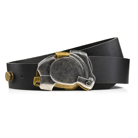 Aged Enigma Belt // Black (Size 32)