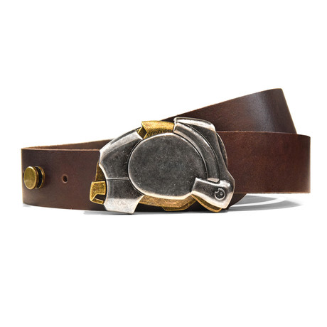 Aged Enigma Belt // Brown (Size 32)
