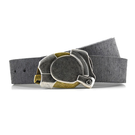 Aged Enigma Rough Rider Belt // Gray (Size 32)