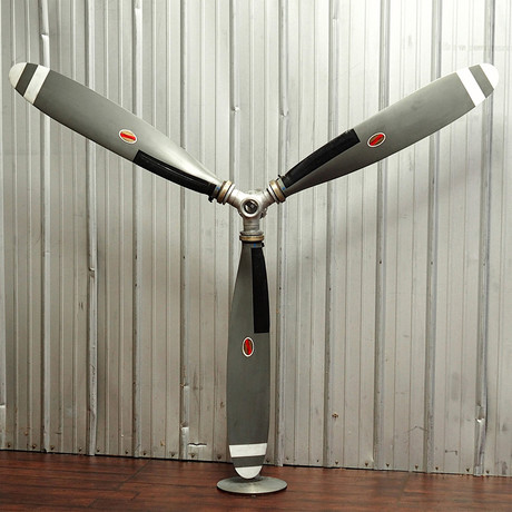 3-Bladed Raw Industrial Propeller Blade Wall Display