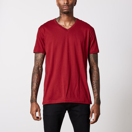The Better Basic V-Neck // Cardinal (XS)